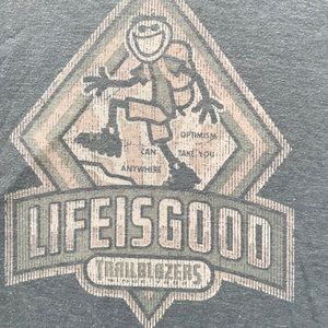 Life is good cotton T-shirt